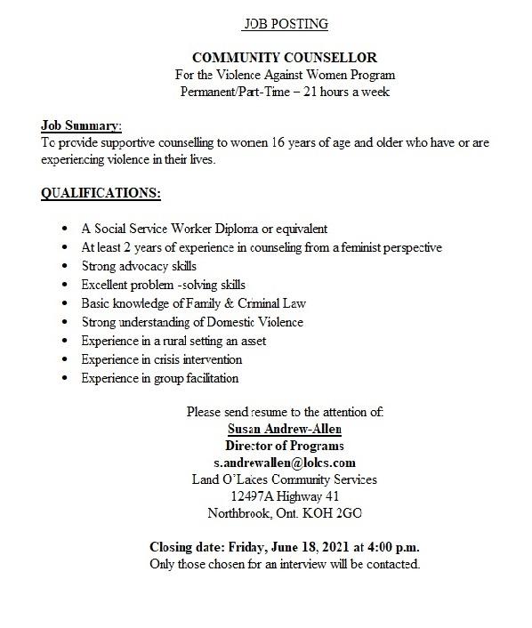 Job Posting for VAW Team